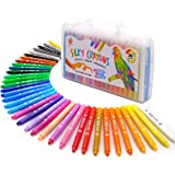TBC The Best Crafts 36 Colors Silky Gel Crayons Set, Washable 3-in-1 Smooth Bolder Crayons, Pastel and Watercolor Effects, Pe