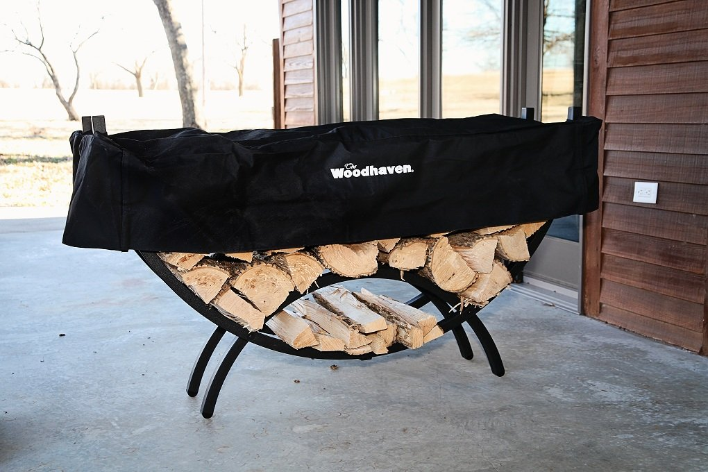 The Woodhaven 5 Foot Crescent Firewood Rack