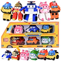 6pcs/Set Robocar Poli Transformation Robot Car Toy