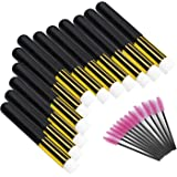 12 Pcs Eyelash Cleaning Brush Lash Extension Cleanser Shampoo Soft Makeup Brushes for Blackhead Remover Tool Nose Washing with a Dozen Mascara Brushes Wands,Black