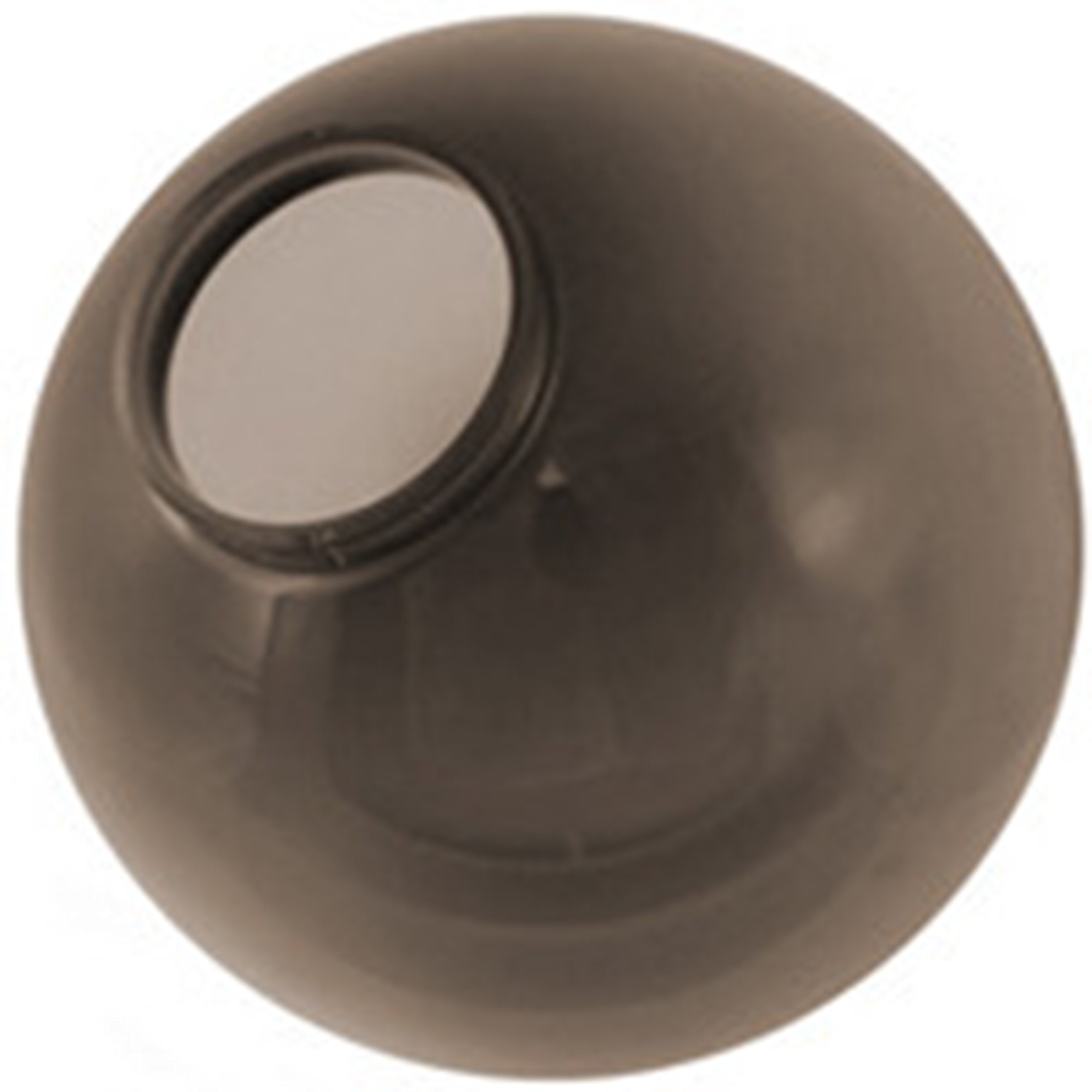 12 Inch Bronze Polycarbonate Lamp Post Globe with 5.7 Inch Twist Lock Neck