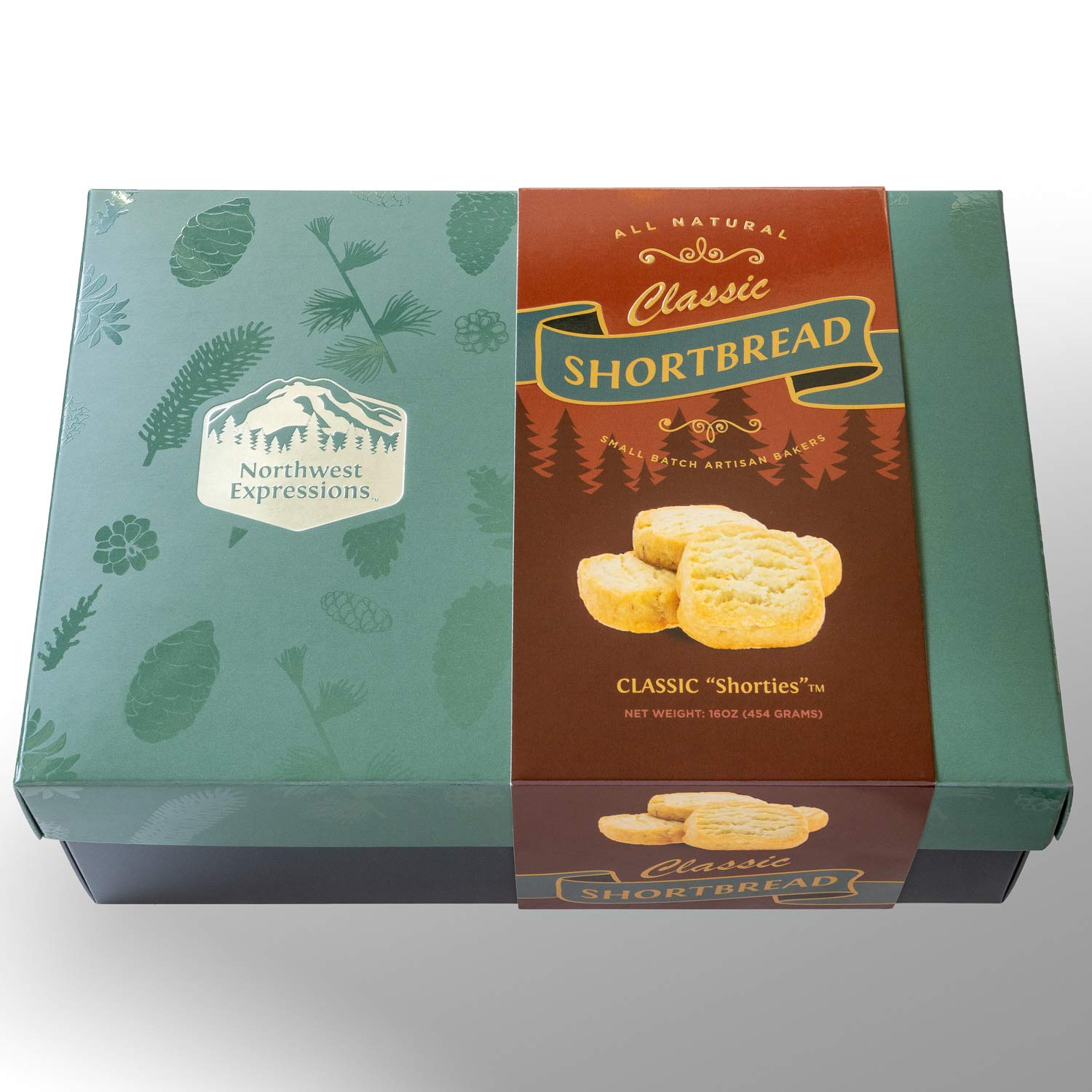 Northwest Expressions Classic Shortbread Cookies – Handmade Artisanal Scottish-Style Shortbread Biscuits – Old Fashioned, Homemade Gourmet Butter Cookies in Custom Gift Box, 16oz