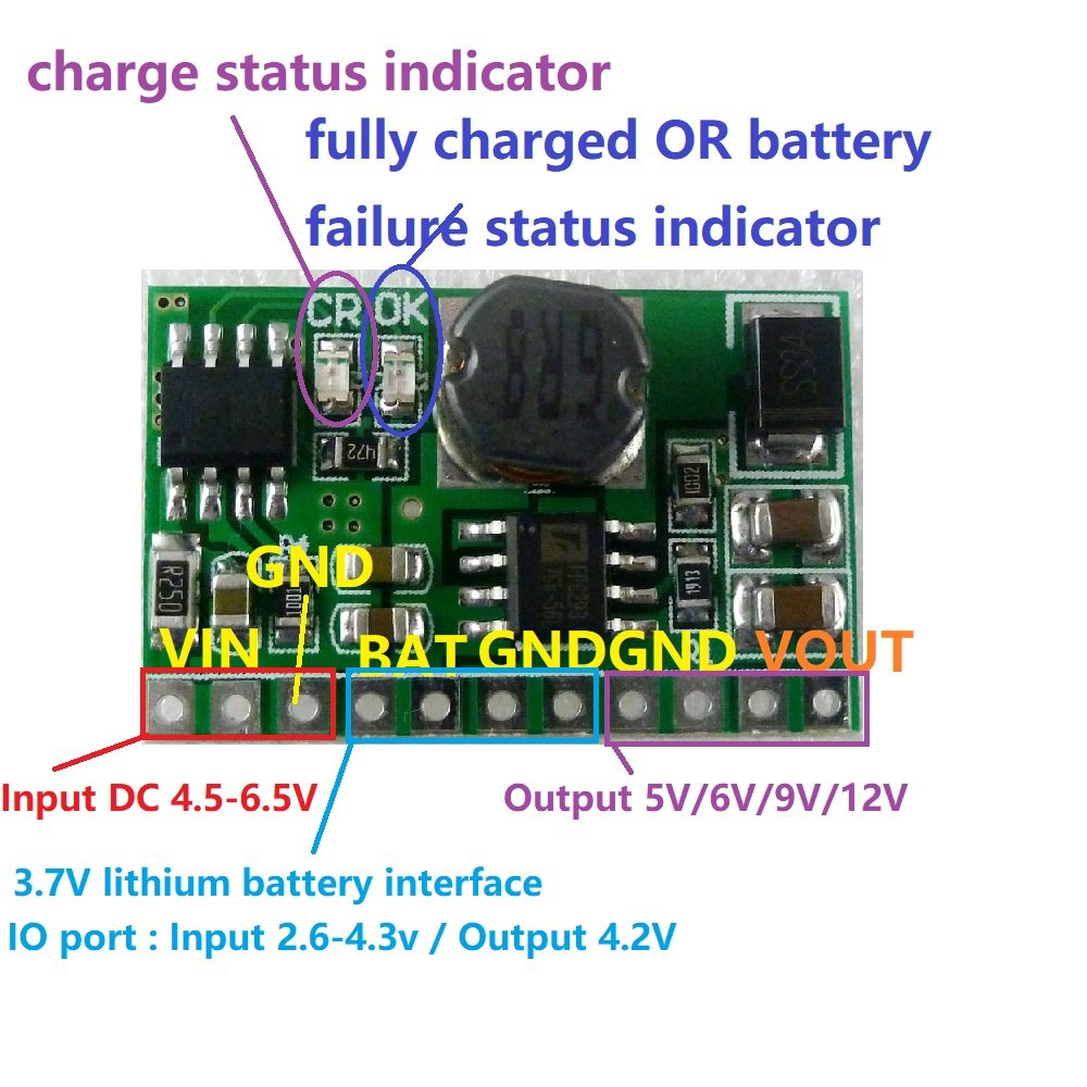Eletechsup 10w 12v Lithium Battery Charger Discharger Level Indicator Circuit Board Dc Converter Step Up Home Audio Theater