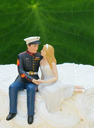Amazoncom Marine Corps Wedding Cake Topper by Magical Day
