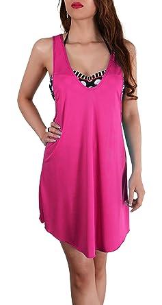 SODACODA wunderschönes luftiges Strand Cover Up Kleid/ Top (Pink)