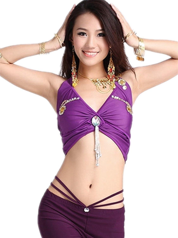 60% de descuento Ropa de baile Traje de danza del vientre Set Exotic ...