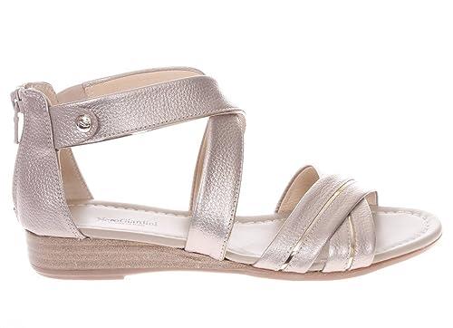 P805640D 100.Sandalo Fasce Incrociate in Pelle.Nero.40 Comprar El Precio Barato De Baja m6Mv1