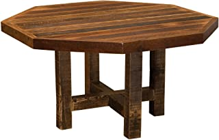 """product image for Barnwood Octagon Dining Table - 48"""" 54"""" with Antique Oak Top and Artisan Top"""