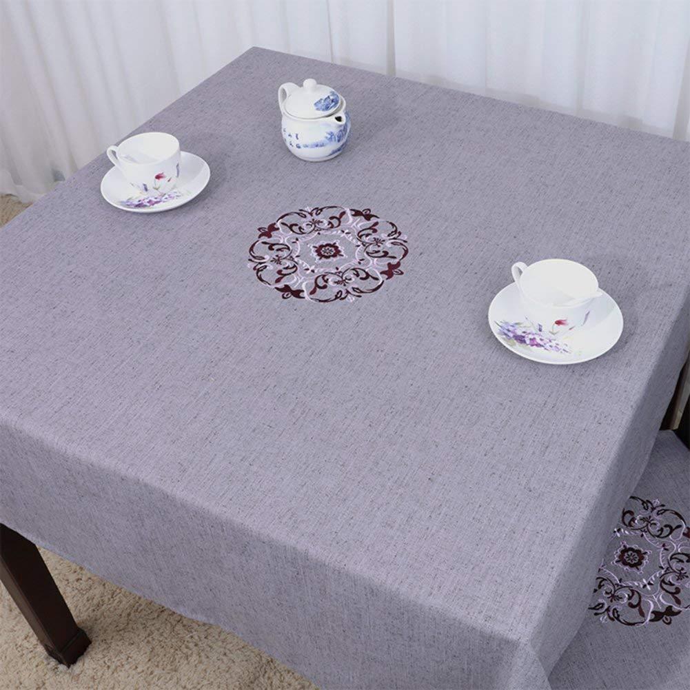 Shuangdeng 田舎のテーブルクロスファブリックTableclothTeaテーブルクロスデスクデスククロス (Color : O, サイズ : 130x130cm(51x51inch))   B07SDLH4Z4