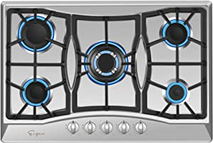 "Empava 30"" Stainless Steel 5 Italy Sabaf Burners Stove Top Gas Cooktop EMPV-30GC0A5"