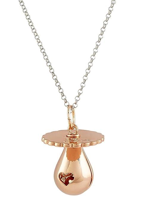 Argentoè - Llamador de ángeles con sonido, bola mexicana rodiada en forma de chupete con collar de 80 cm rosa