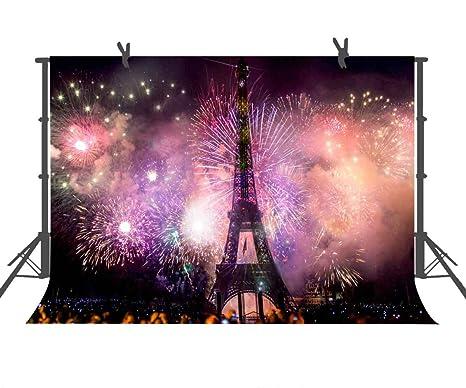 Amazoncom Pink Eiffel Tower Photography Backdrop 9x6 Ft Paris