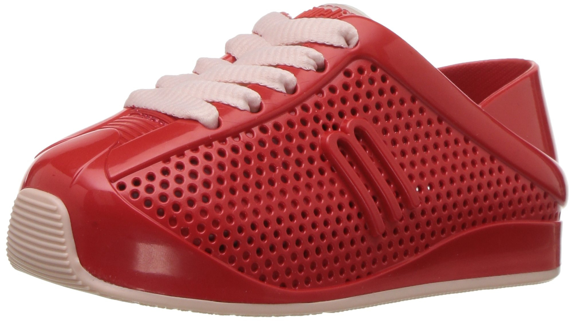 Mini Melissa Kids' Mini Love System Sneaker,Red,10 Regular US Toddler