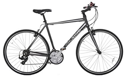 6341f40b0a4 Image Unavailable. Image not available for. Color  Vilano Tuono Performance  Hybrid Flat Bar Commuter Road Bike (700c