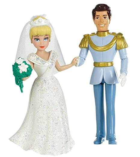 Amazon.com: Mattel Disney Princess Fairytale Wedding Cinderella and ...
