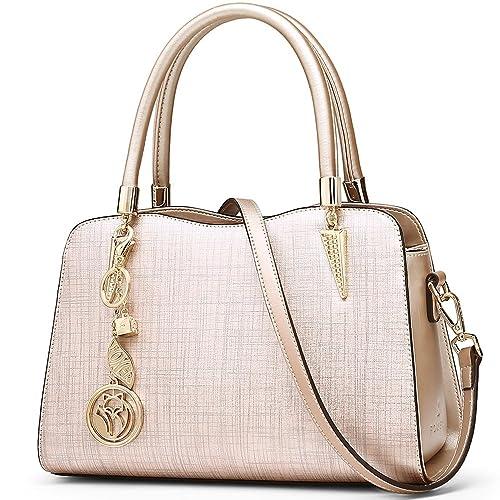 53893b23a5dc FOXER Women Leather Handbag Purse Top Handle Crossbody Bag Leather ...