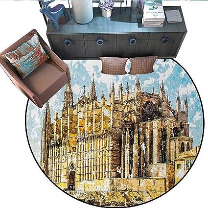 Amazon.com: Gothic Print Area Rug Big Gothic Building Sea ...