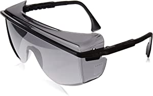 Uvex S2504 Astrospec OTG 3001 Safety Eyewear, Black Frame, Gray Ultra-Dura Hardcoat Lens