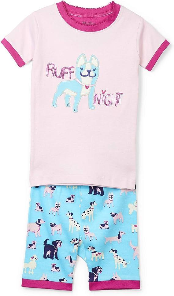 Hatley conjunto de pijama de algodón orgánico para niñas con aplique de manga corta: Amazon.es: Ropa y accesorios