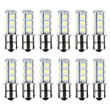 HOTSYSTEM 12V 1156 7506 1003 1141 LED SMD 18 LED Bulbs Interior RV Camper White 12-pack