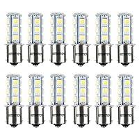 HOTSYSTEM 12V 1156 7506 1003 1141 LED SMD 18 LED Bulbs Interior RV Camper White 12-pack