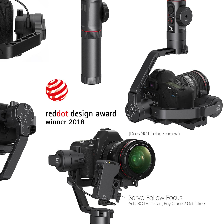 Zhiyun Crane 2 3 Axis Handheld Gimbal Stabilizer For With Follow Fokus Mirorrles Dslr Camera Get Free Servo Focus Photo