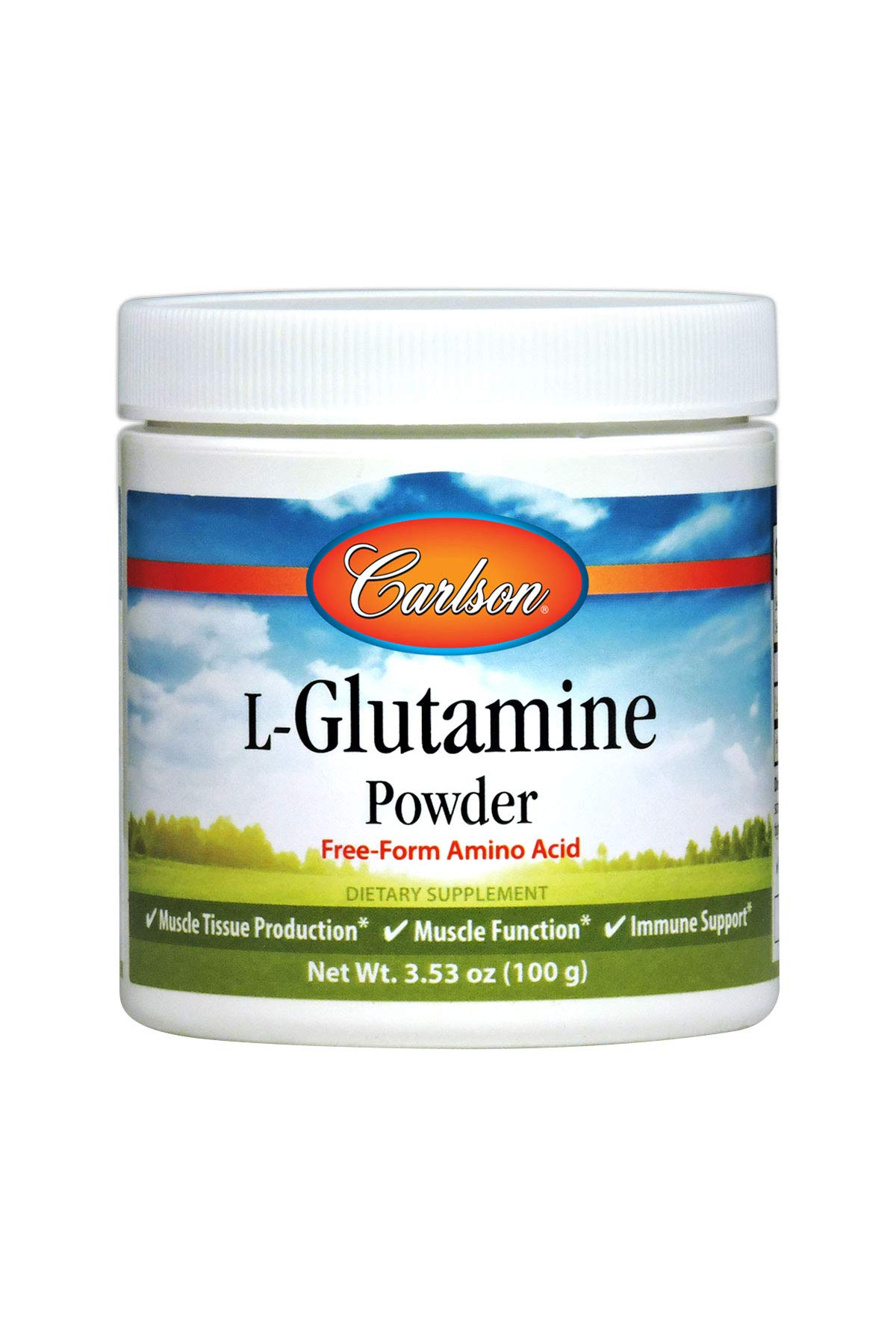 Carlson - L-Glutamine Powder, Free Form Amino Acid, Muscle Tissue Production & Function, Immune Support, 100 grams by Carlson