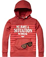 Scotch & Soda Shrunk Jungen Sweatshirt 13410140502 - hooded sweat with text artworks