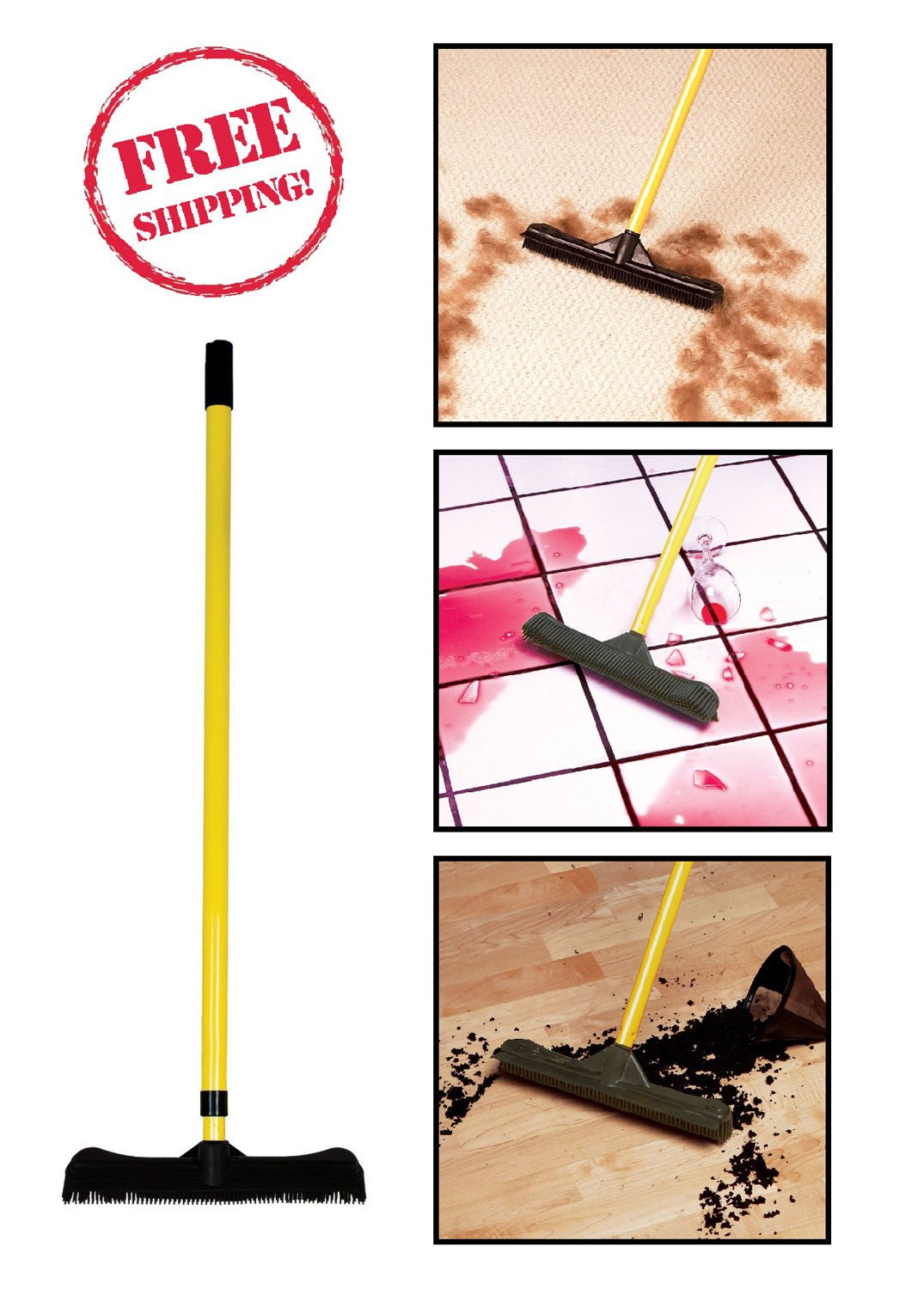 Amazon.com : Evriholder FURemover / Rubber Broom Brush Quality Sweep HQ Home Cleaning Mop NEW : Everything Else
