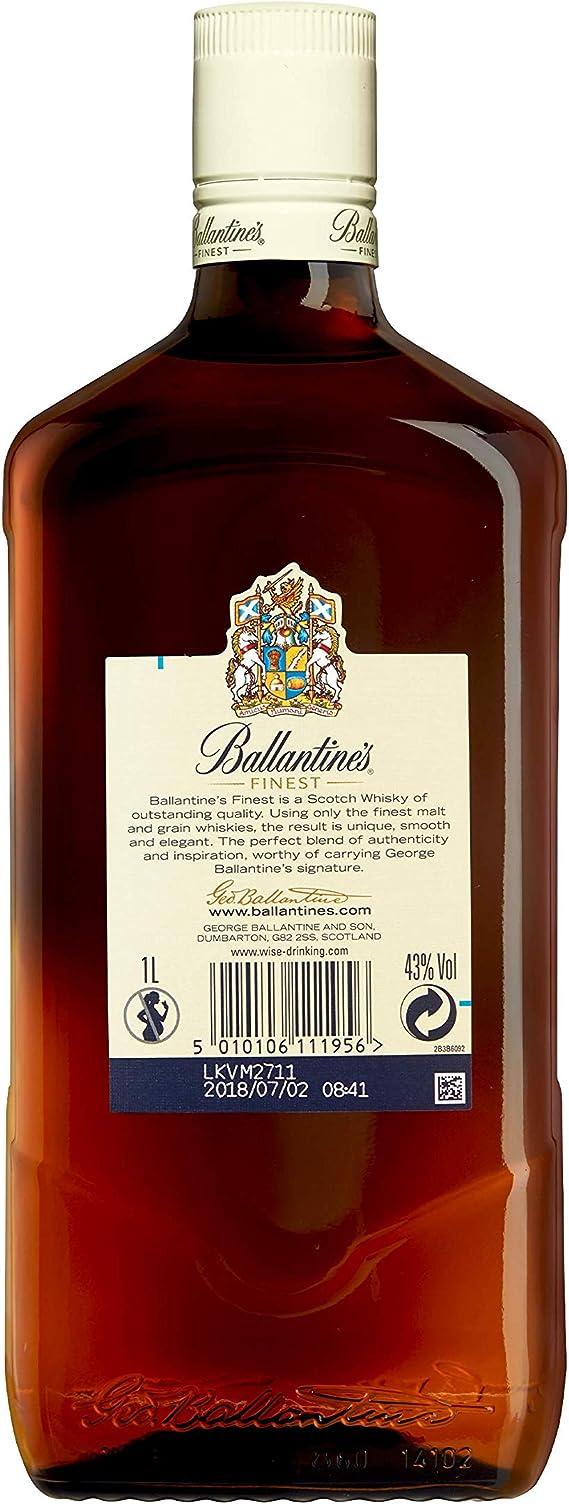 BallantineS Finest Whisky Escocés de Mezcla 1L: Amazon.es ...