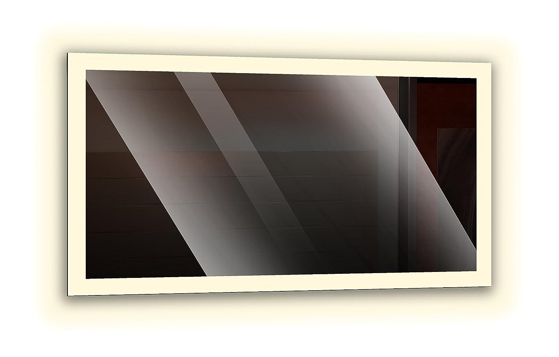 Badspiegel mit LED - Beleuchtung, Wandspiegel, Badezimmerspiegel - rundherum rundherum rundherum beleuchtet durch satinierte Lichtflächen, Design LED Spiegel für Badezimmer, Farbe  Weiß - Neutralweiß, Größe  Breite 80 cm x Höhe 60 cm 6644e6