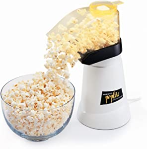 White/Yellow Presto 04820 PopLite Hot Air Popper 120 volts, 60 Hz Pops Up To 18 Cups Order Now! With E-book Gift@