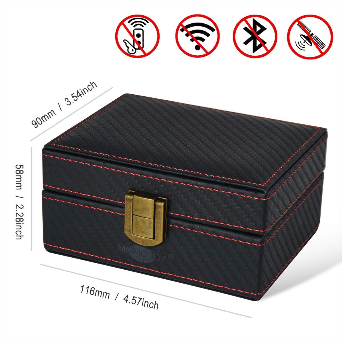 Monojoy Coque de Protection pour cl/é de Voiture et Moto Protection Contre Les Vols RFID Blocker