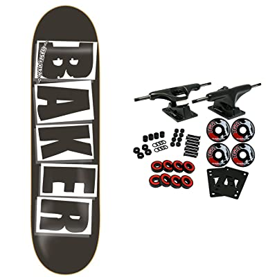 "Baker Skateboards Complete Logo Black/White 8.475"" OG Shape : Sports & Outdoors"