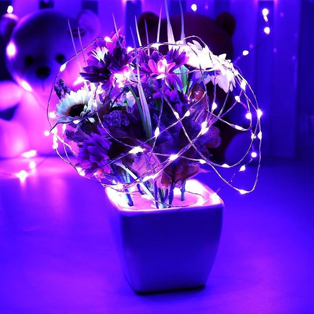 Wedding Dimmable LED String Lights,ER CHEN Warm White TM Parties 165Ft 500 LEDs Silver Wire Starry String Lights with Remote Control and Adapter For Seasonal Decorative Christmas Holiday