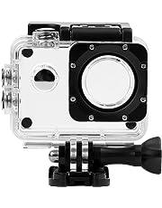 D&F Schutz Wasserdicht Gehäuse Case Transparent Unterwasser Box Tauchen 30 m für SJ4000/sj4000 WiFi/sj4000 Plus Action Sport Cam Kamera