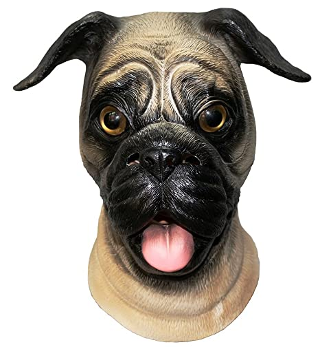 pug dog head face mask for halloween masquerade party carnival mask party for adults creepy halloween