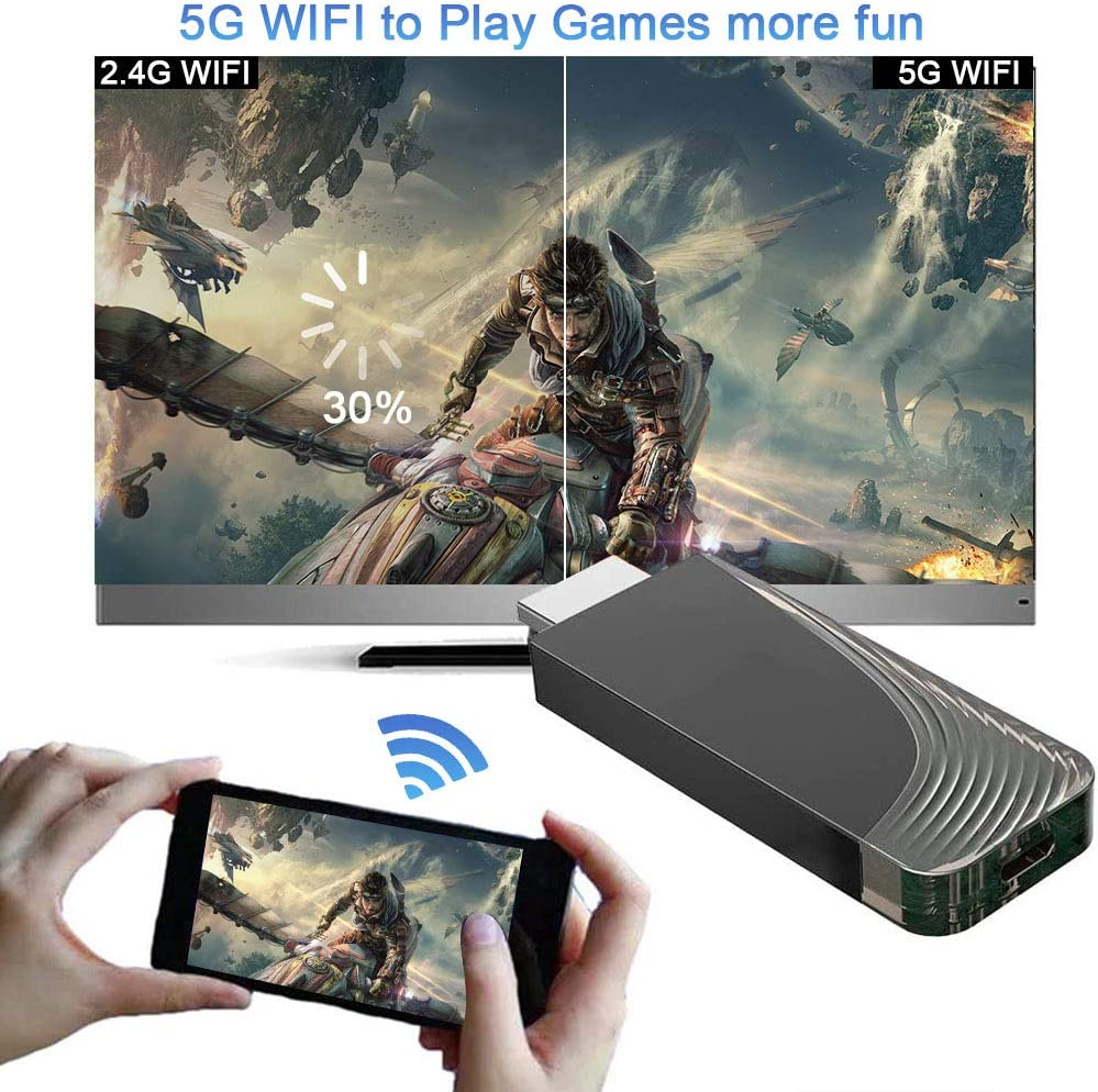 WiFi Display Dongle, iBosi Cheng 5G/2.4G Wireless Display Receiver Full HD 1080P HDMI Dongle for Smartphones Laptops to HDTV Projector Car Monitor: Electronics