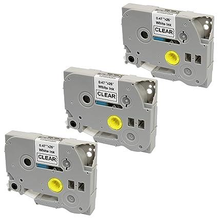 3 Casetes de Cinta compatibles con TZe135 TZ135 Blanco sobre ...