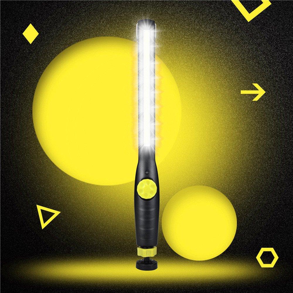 Magnet COB LED Handlampe, Siswong Wiederaufladbar Super Hell Innenbeleuchtung Werkstattlampen