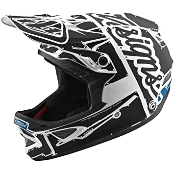 Troy Lee Designs Casco Integral Mtb 2018 D3 Factory Fiberlite Factory Blanco-Gri (L