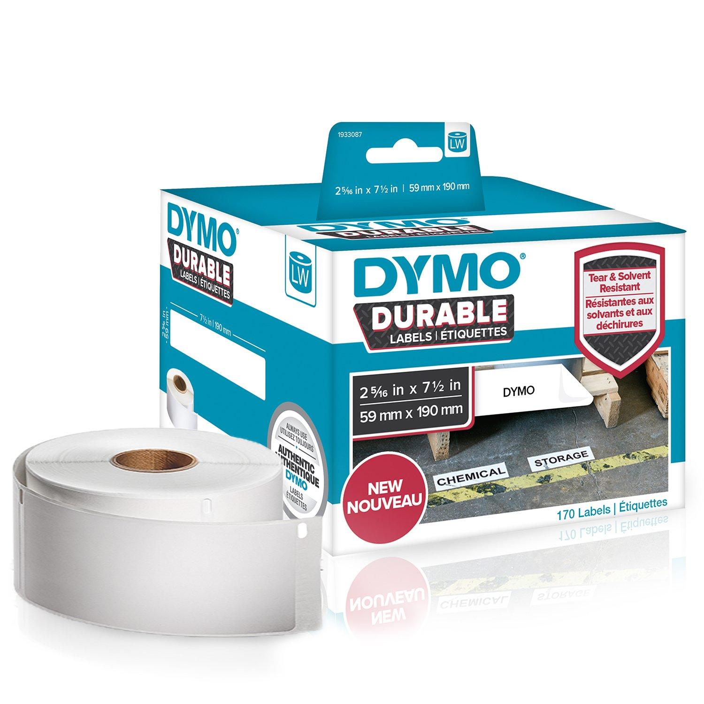 2/rouleaux de 350 DYMO /Étiquettes industrielles durables pour imprimantes /à /étiquettes LabelWriter 104 x 159 mm blanc