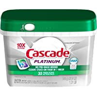 Cascade Platinum ActionPacs Dishwasher Detergent, Fresh Scent, 75 count, packaging may vary
