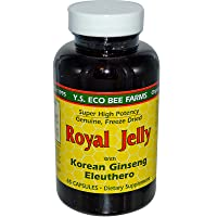 Royal Jelly 200 mg + Ginseng (Siberian 200mg, Korean 100mg) Y.S. Organic Bee Far...