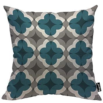 Amazon.com: Mugod - Funda de almohada abstracta floral con ...