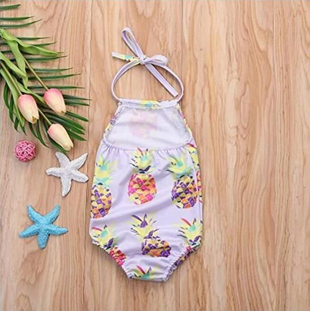 TIMMIYA Baby Girls Pineapple One Pieces Halter Swimsuit