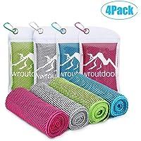 Awroutdoor 4 Pack Toalla de Enfriamiento - 100