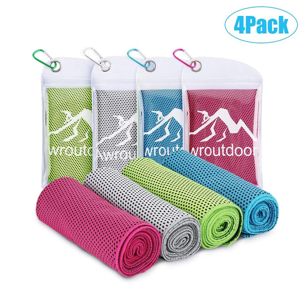 Awroutdoor set di 4 asciugamani