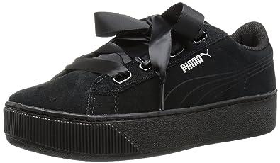 364471c1435 Amazon.com | PUMA Women's Vikky Platform Ribbon S Sneaker | Fashion ...