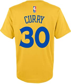 736015bf7 Outerstuff Stephen Curry Golden State Warriors NBA Boys Youth 8-20 Yellow  Gold Official Player